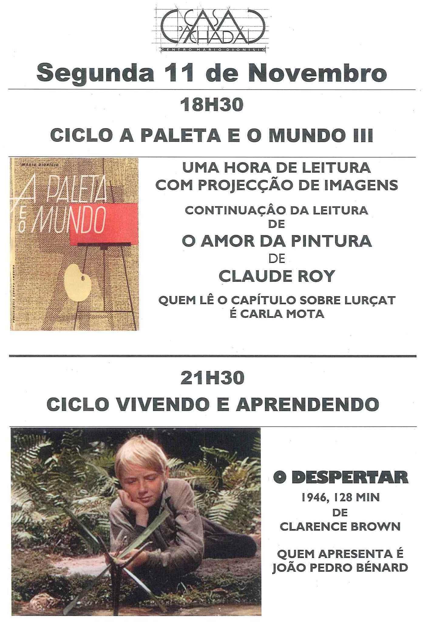 CARTAZ SEGUNDA 11 NOVEMBRO 13