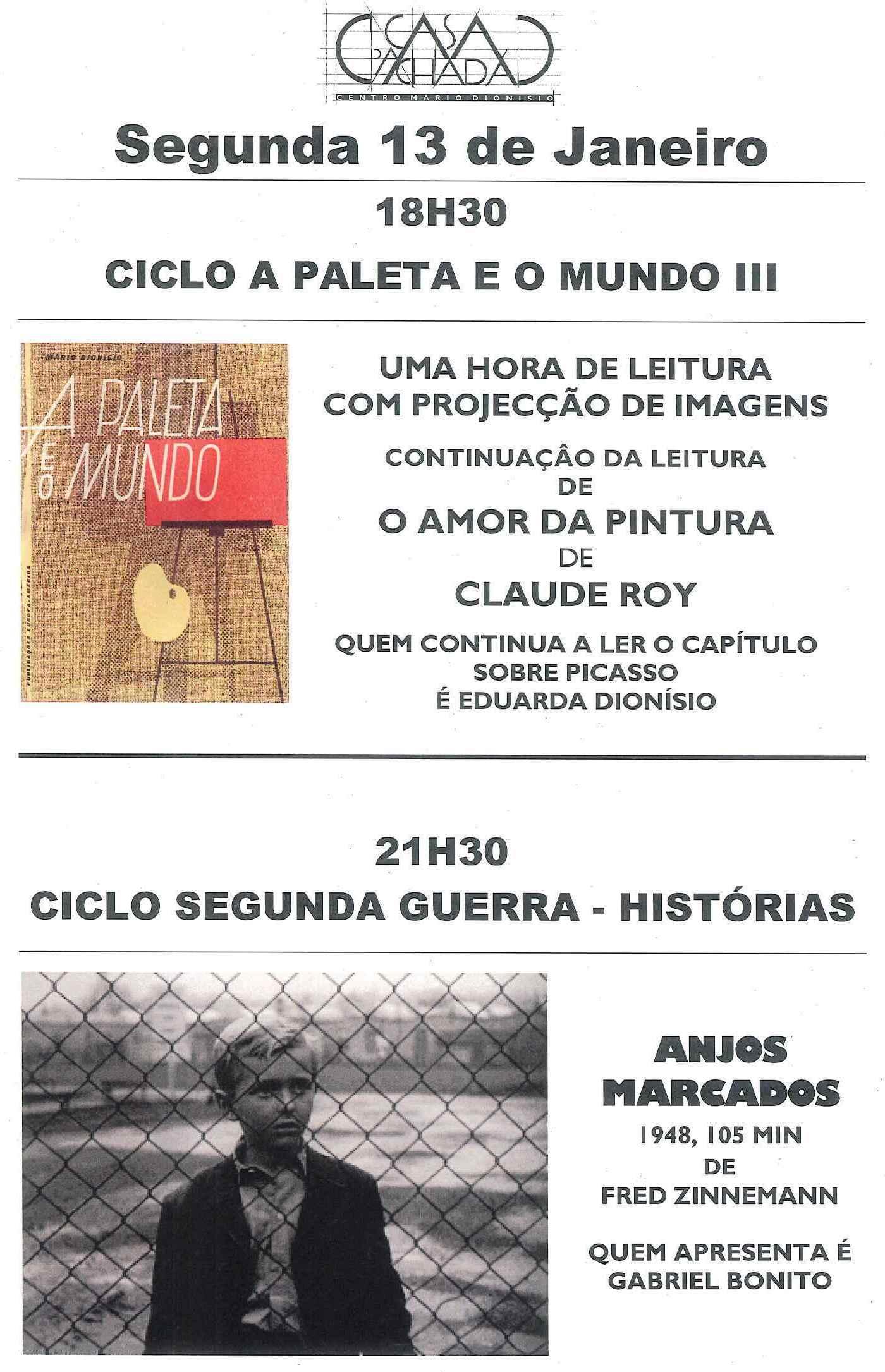 CARTAZ SEGUNDA 13 JANEIRO 14