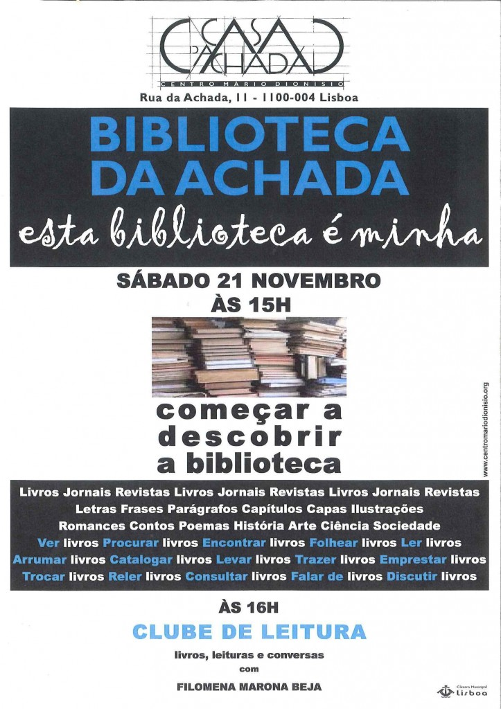 Cartaz Biblioteca 20NOV09