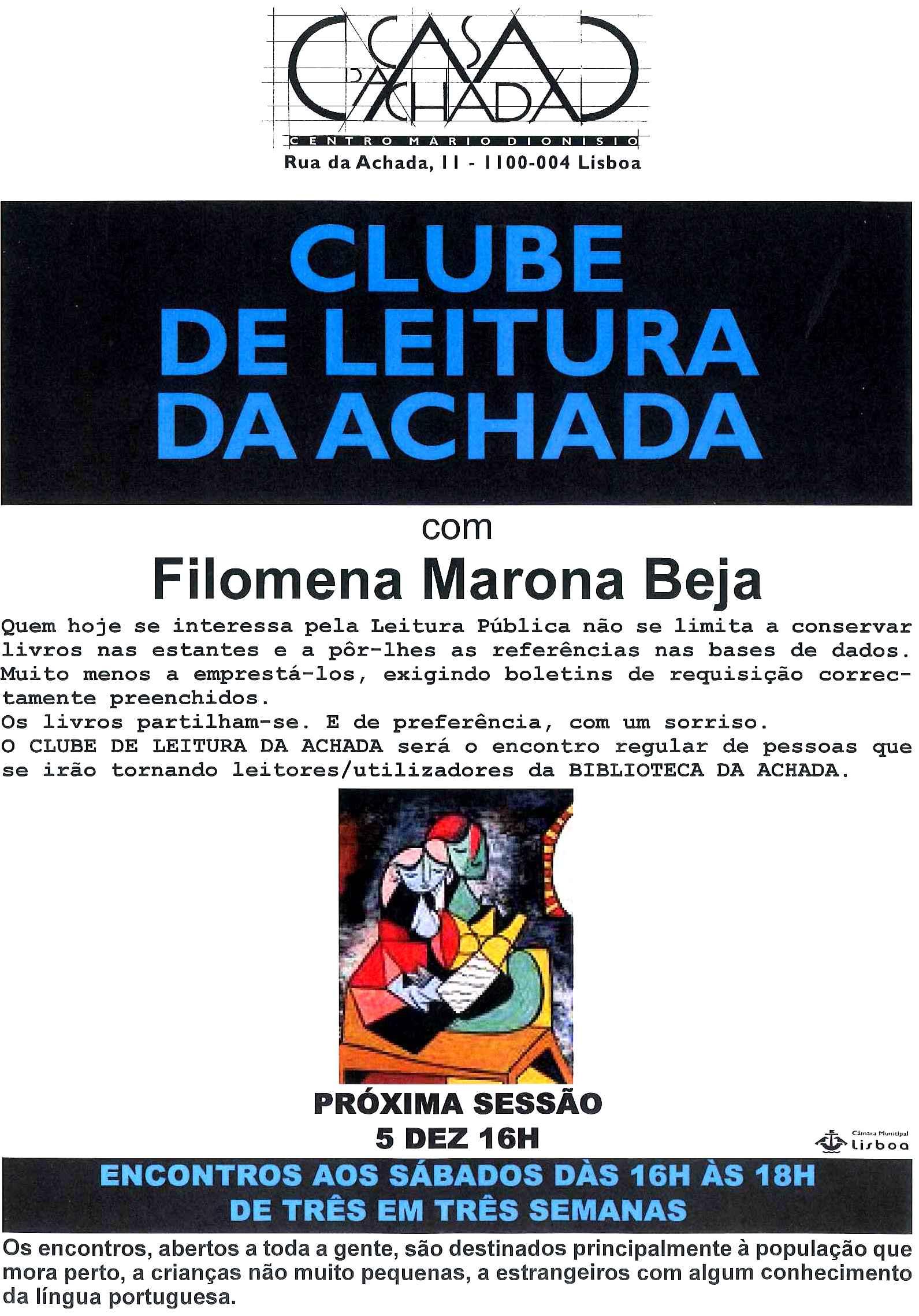 Cartaz Clube Leitura Dezembro