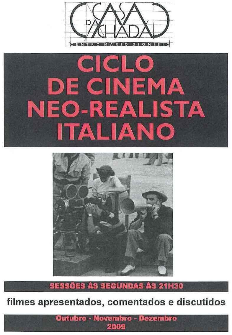 Cartaz ciclo cinema neorealismo