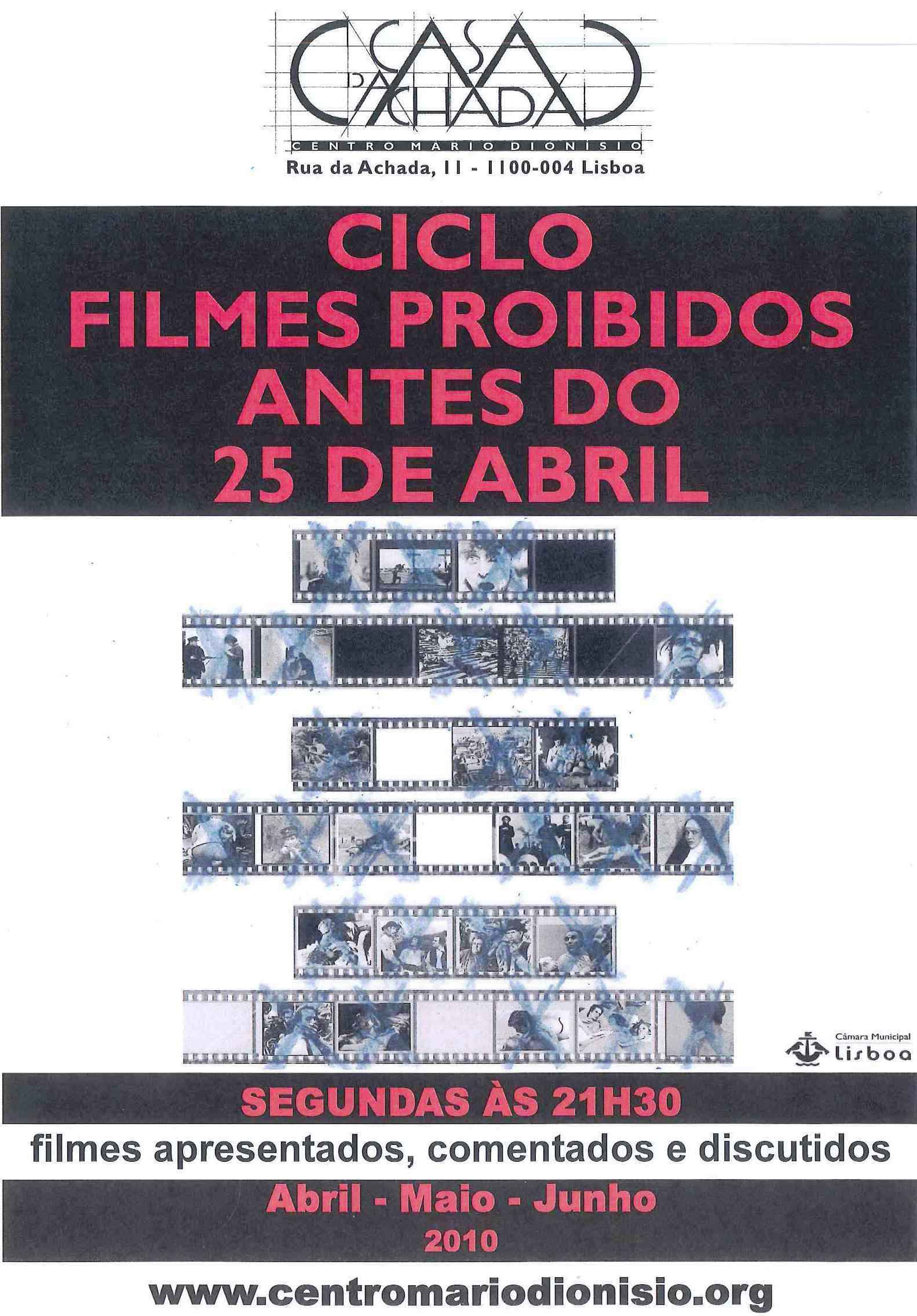 Filmes proibidos antes do 25 de Abril