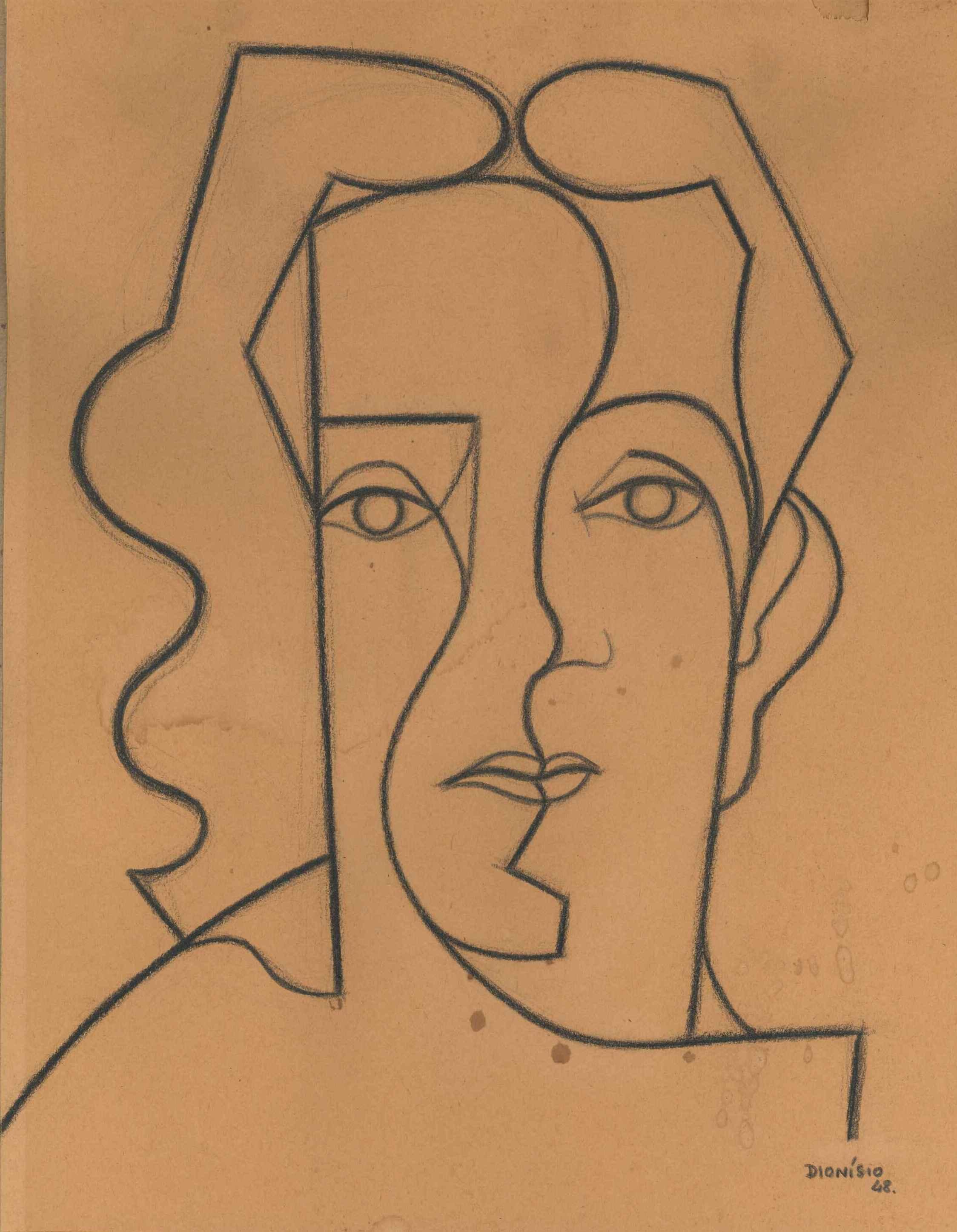 «Maria», desenho a carvão, 36 x 28. Exposto na IV EGAP (1949), no Museu da Resistência e na Casa da Cultura de Coimbra (1996).