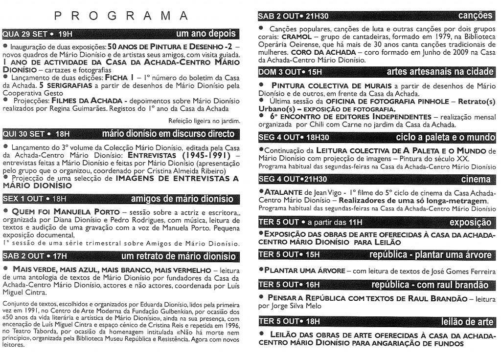Programa Aniversário CA-CMD