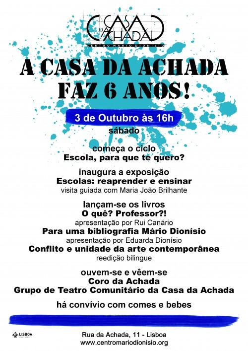 cartaz 3 de Outubro com manchas