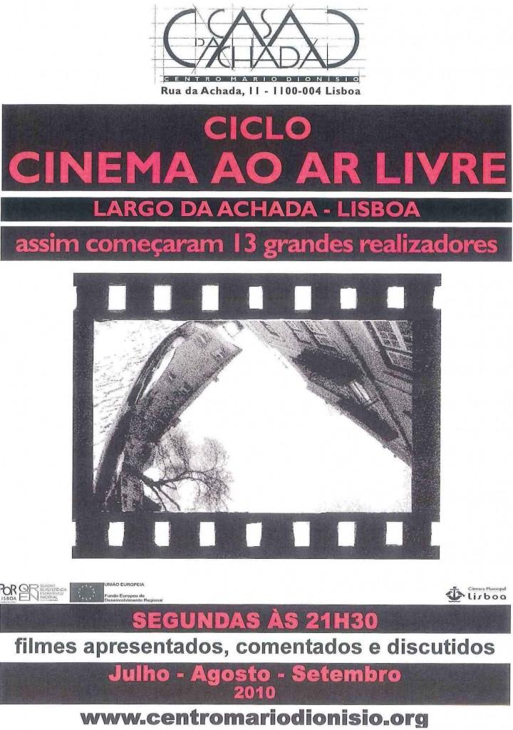 cartaz cinema ao ar livre