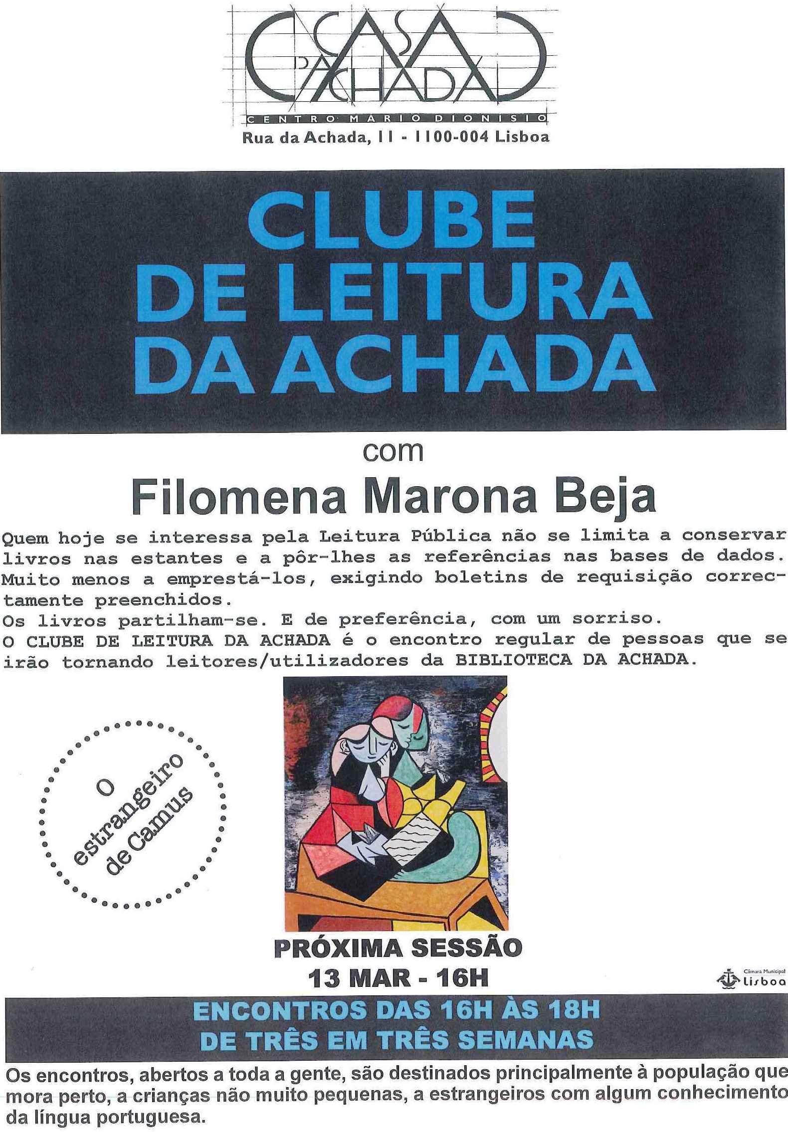 cartaz clube de leitura